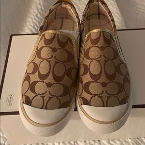 Size 8 Coach Slip on Sneakers